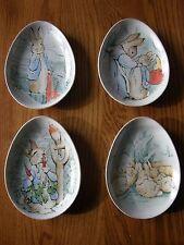 Set 4:Pottery Barn Kids Peter Rabbit Easter Ceramic Plate Set-1st Birthday Party