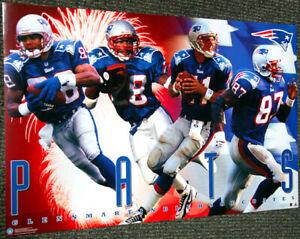 New England Patriots FIREWORKS 1997 Poster DREW BLEDSOE, COATES, CURTIS MARTIN+