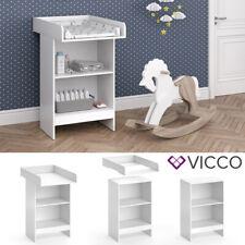 Table à langer Vicco Leo blanc Bébé Étagère à langer Modèle bébé Commode à lange