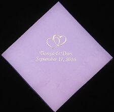 125 Personalized wedding luncheon napkins dinner custom printed wedding favors