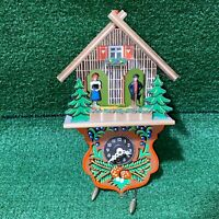 Vintage German Hekas Kuckuck Cuckoo Clock Black Forest House Clock