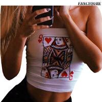 Women Poker Strapless Sleeveless Bustier Crop Tops Vest Tank Tops T-Shirt Bra