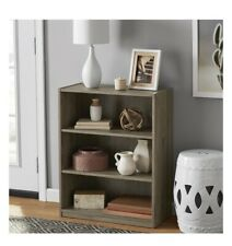 "Mainstays 31"" 3 Shelf Bookcase, Rustic Oak"