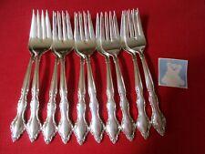 (10) International Deepsilver Silverplate Salad Forks, 1965 Wakefield   Stk#M