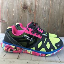 New listing FILA RN 91175 Women's Pink/Blue/Yellow Walking/Running shoes size 7.5