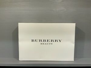 BURBERRY Womens RED / TAN Pouch Trousse Makeup Bag - NEW in Burberry Gift Box