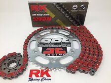Red 2008-16 CBR1000rr RK GXW520 15/42 Quick Acceleration Chain and Sprocket Kit
