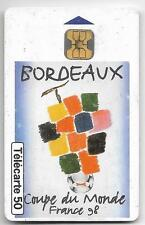 FRANCE TELECOM PHONECARD FOOTBALL WORLD CUP 1998 BORDEAUX 50 UNITS