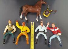 Vintage Hartland Plastic Toy Lot Lone Ranger Roy Rogers Tonto Horse Sheriff