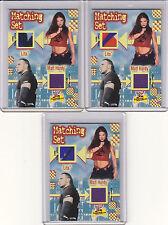 Lot of (3) LITA & MATT HARDY multi color WWE EVENT WORN SHIRTS Matching Set (b)