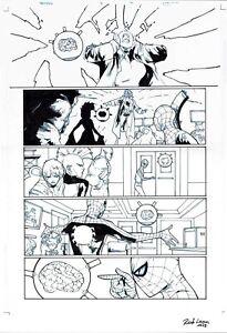 SPIDERMAN & THE X-MEN #4 ORIGINAL COMIC ART PAGE - SPIDEY & STORM MARVEL COMICS