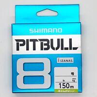SHIMANO PITBULL X8 Braided Line PE 150m Lime Green Select LB Free Shipping