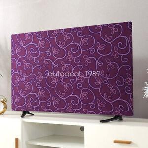 TV Desktop Computer Monitor Cover Cartoon Dustproof Slipcover Indoor Decor 1Pcs