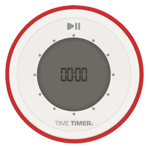Time Timer TWIST, 3-1/2 x 1 Inches, Red/Gray