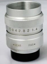 "Direct From China Focusafe Silver FUJIAN CCTV C Mount .5 ""format 25mm F1.4 Lens"