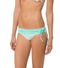 ONEILL South Shore Womens Swimwear Green White Tie Side Bikini Bottom Size XL