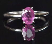 14KT White Gold Oval Shape 1.60 Carat Natural Pink Tourmaline Engagement Ring