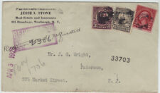 1926 Newburgh NY Sta. No. 2  20c Registered cover to Paterson NJ Orange County