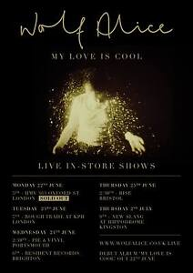 WOLF ALICE My Love Is Cool March 2016 UK A3 POSTER Band Ellie BUY 2 GET 3RD FREE