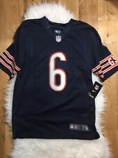 NFL Nike Men Game Jersey Jay Cutler #6 Chicago Bears Size Small Navy Orange NEW