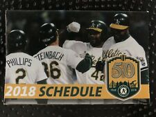 Oakland A's 2018 Pocket Schedule Bash Brothers 1989 World Series Henderson Card