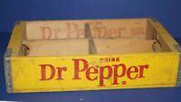 VINTAGE 1967 DRINK DR PEPPER BOTTLED SODA WOOD CRATE CARRIER LIMA OHIO - NICE!