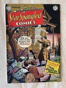 STAR SPANGLED COMICS #130-FINAL ISSUE-BATMAN-ROBIN APPEAR-GOLDEN AGE VG/FINE 5.0