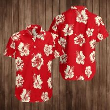 Red Flower Unisex Hawaiian Shirt