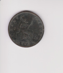 Victorian 1862 Half Penny COIN.GH193