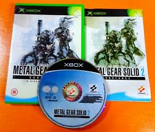 ORIGINAL XBOX METAL GEAR SOLID 2 SUBSTANCE +BOX & INSTRUCTIONS COMPLETE PAL