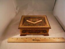 "Unusual Rare Italian Reuge Inlaid Wood Puzzle Box ""Nadia Theme"" Music Box"