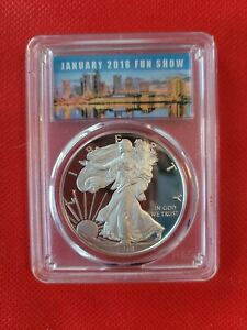 2018-W Proof Silver Eagle PCGS PR70-DCAM First Strike (Tampa 2018 Fun Show)