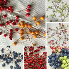 100pc Plastic Artifical Berries Bouquet Silk Flowers Home Wedding Decor 4 Colors