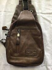 Men's Genuine Leather Crossbody Sling Bag,Chest bag,Hiking Backpack Water Anti