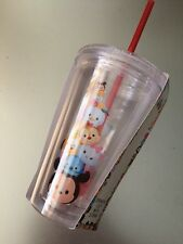 Officially DISNEY Licensed Children's Tsum Tsum Drinking Cup with Straw NEW