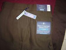Croft & Barrow True Comfort Dress Pant, Classic fit Pleat Fr Brown 42/29 #640