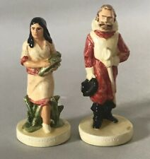 "VINTAGE (1948) 2 SEBASTIAN MINIATURES ""Captain John Smith & Pocahontas"""