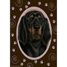 Paws House Flag - Black and Tan Coonhound 17402