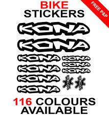 Kona decals stickers sheet (cycling, mtb, bmx, road, bike) die-cut
