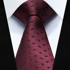 Mens Tie Wedding Satin Burgundy Paisley Floral Paisley Wine Necktie Silk Wedding