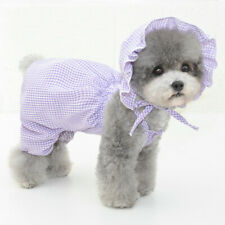 Cute Fashion Gingham Hat Pumpkin Puff Pants Dog Clothes for Small Medium Dogs