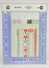 MICROSCALE N SCALE 60-1070 CAL TRAIN F40PH-2 DIESEL ENGINE DECAL  DF