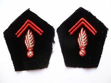 Pattes de Col OBSOLÈTE Uniforme Sous Officier SAPEURS POMPIERS France 1940/1960