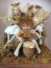 Vintage Linda Kirtzman Musical Fairy Trio Dolls