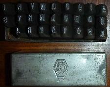 Alte Schlagbuchstaben 4mm Schriftgröße Schlagzahlen Schlagstempel Prägestempel