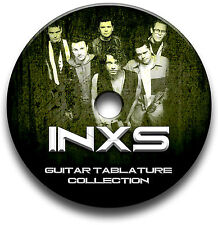 Inxs Rock Pop Guitare & Clavier Tab Tablature Song Book CD