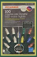 4 Sets Sylvania Christmas Lights 3-function Color Changing LED Mini Lights 100