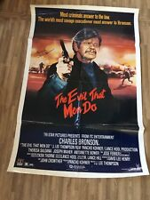 """ EVIL THAT MEN DO"" MOVIE POSTER, AUTOGRAPHED BY CHARLES BRONSON (DIED 2003)"