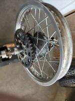 1981 Yamaha YZ80 YZ80H YZ 80 Rear Rim Wheel sprocket Hub Straight 14in Oem