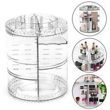 Cosmetic Organiser Acrylic Storage Box Shelf 360 Degree Rotating Display Decor
